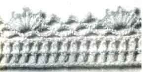 Обвязка края юбки крючком