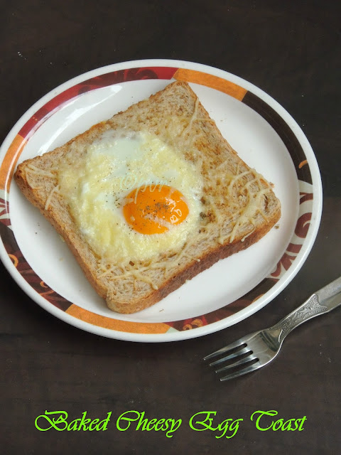 Baked Cheese Egg Toast
