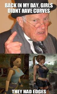 lara croft comparison Morning LOL   Lara Croft Then & Now