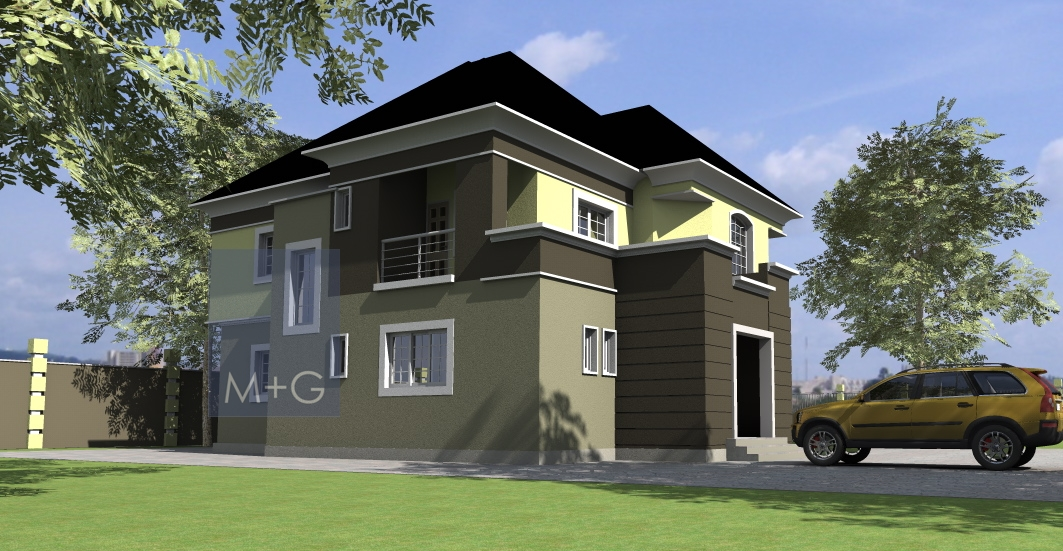 Contemporary nigerian residential architecture 5 bedroom for Nigerian architectural designs