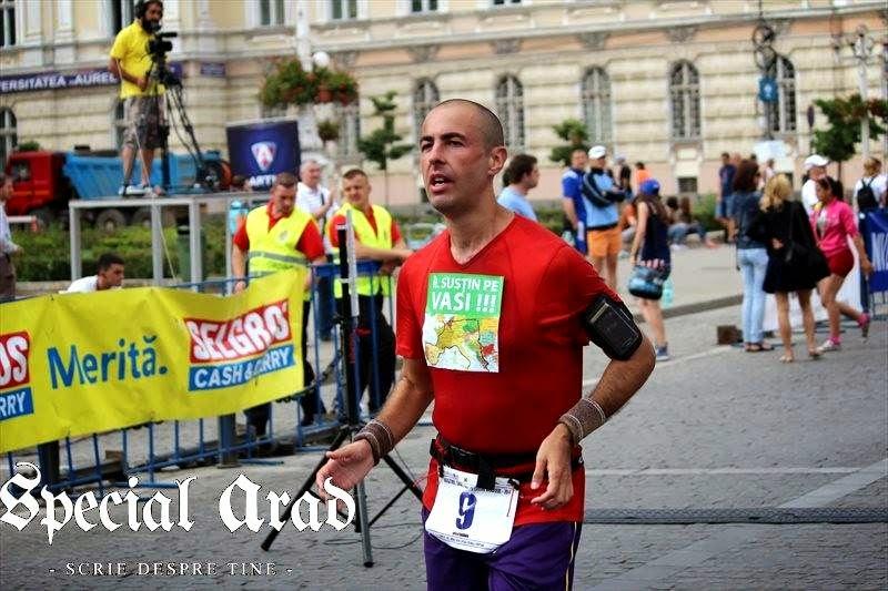 Maraton Arad 2014. Un eveniment REUŞIT în ciuda tuturor dificultăţilor. Florin Chindea în timpul concursului