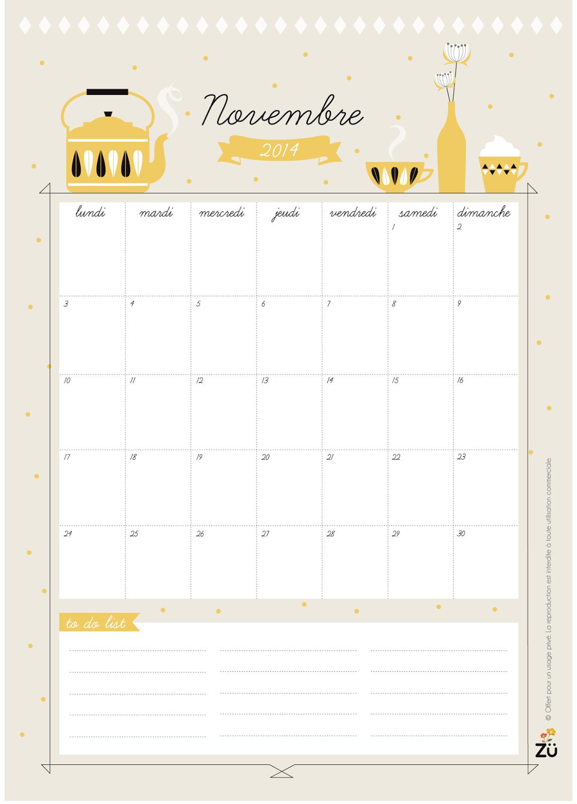 Calendar Zu : Art and chic