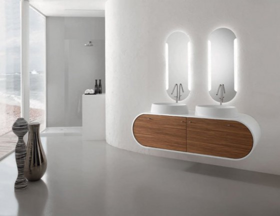Modern bathroom vanities designs  Interior Home Design # Wasbak Lamp_182834
