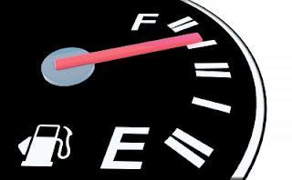 Graphic of gas gauge