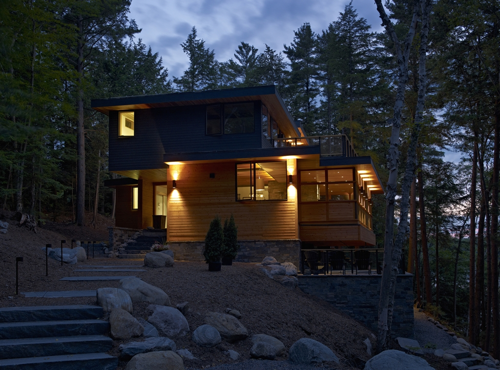 Forest house lake joseph cottage by altius architecture for Cottage architecture