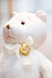 Porta alianças de casamento ursinho