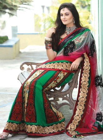 Embroidered-Lehnga-Saree