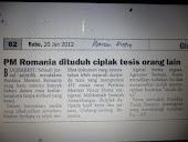 AWAS. PM ROMANIA DITUDUH CIPLAK TESIS ORANG LAIN. ADA PIHAK YANG SEDANG MENGUMPUL DATA NU-PREP !!