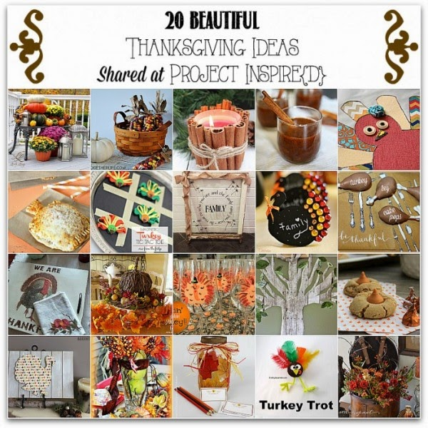 Thanksgiving ideas shared at  One More Time Events.com