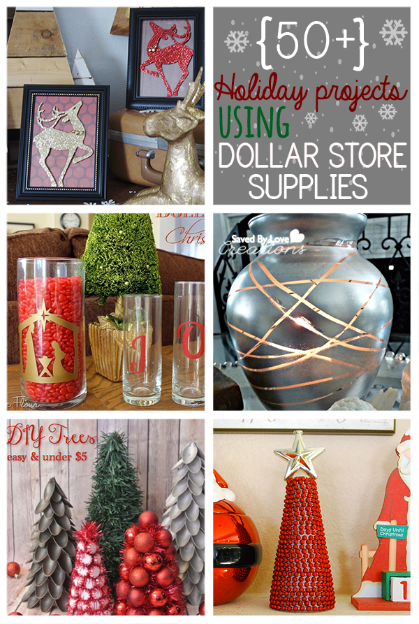 50 Dollar Store Holiday Christmas Crafts DIY Craft Projects