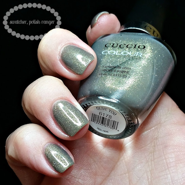 swatcher, polish-ranger | Cuccio Colour Olive You swatch