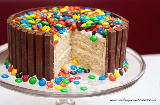 Whats in the Cake Tin Chocolate Finger Birthday Cake