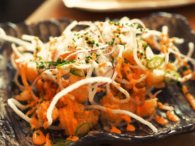 kurobuta shrimp tempura
