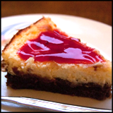 http://ohdaintyduck.com//cheesecake-with-redcurrant-sauce.html