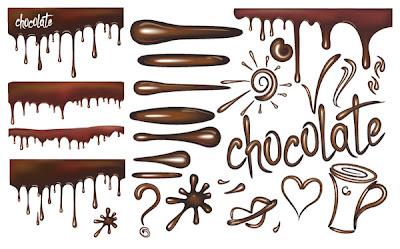 vectores de chocolate