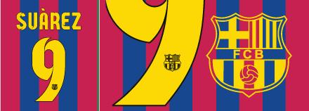 Font FC Barcelona 2014/15 kits