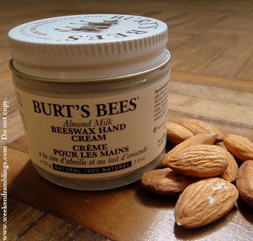 burts bees almond milk beeswax hand creme cream reviews ingredients