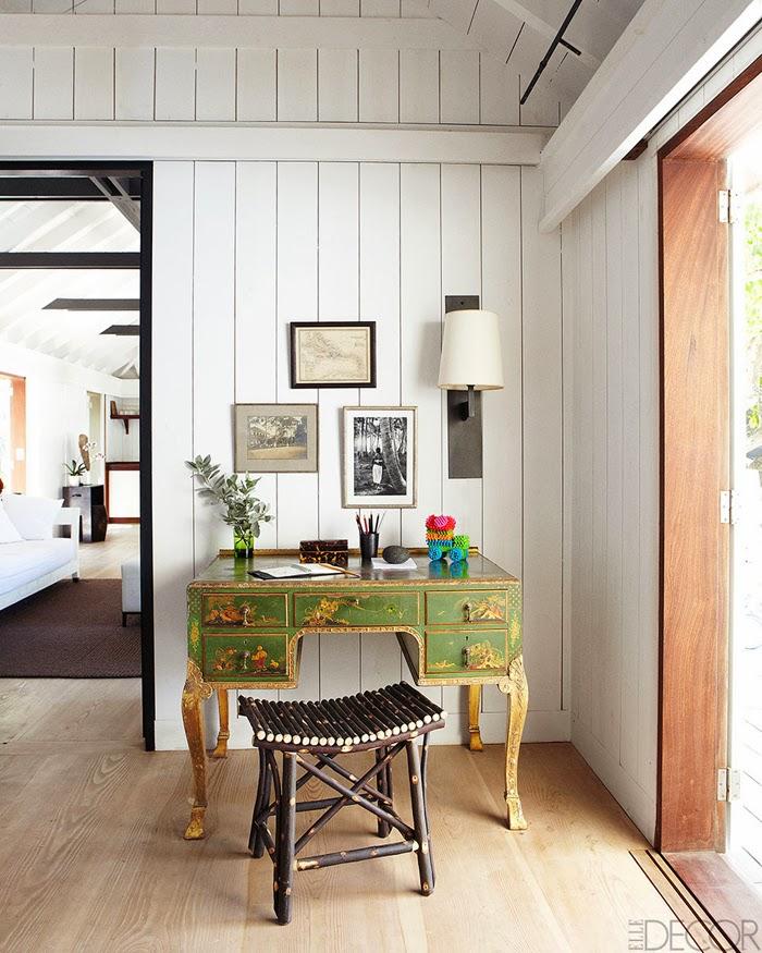 amenajari, interioare, decoratiuni, decor, design interior, casa de vacanta pe plaja, marea caraibelor, hol, birou
