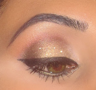 gold smokey reflect glitter