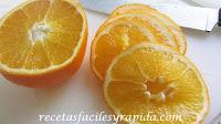 confitar naranja