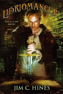 http://www.jimchines.com/novels/magic-ex-libris/