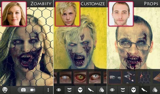 جعل صورك مخيفة مع تطبيق zombie booth2