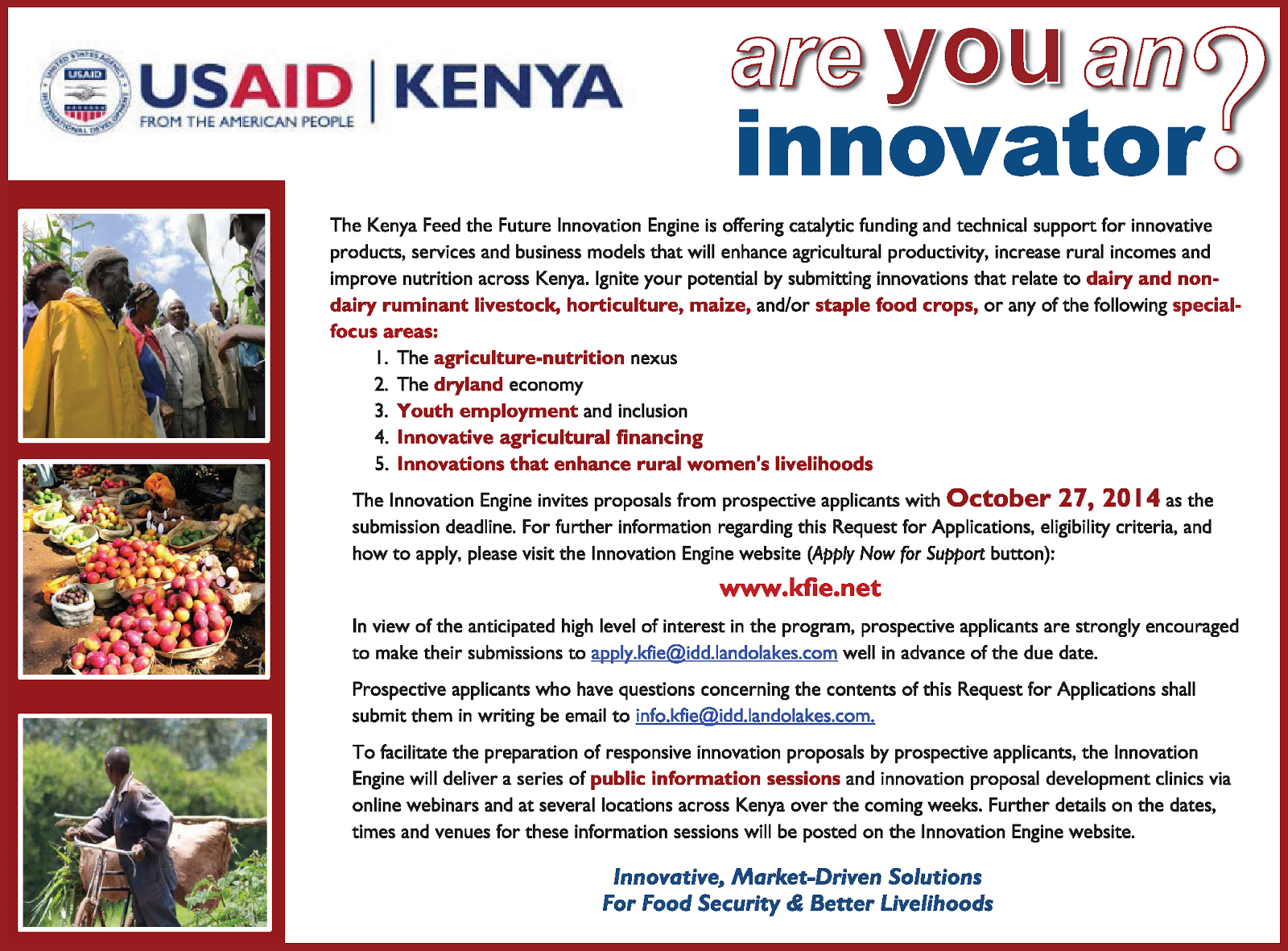 Are you an Agricultural Innovator?
