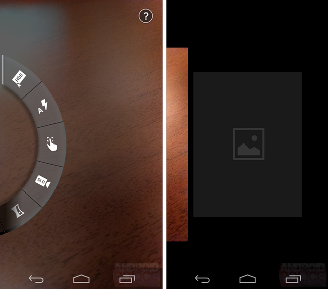 Using Moto X, the user can click anywhere on the interface for ...