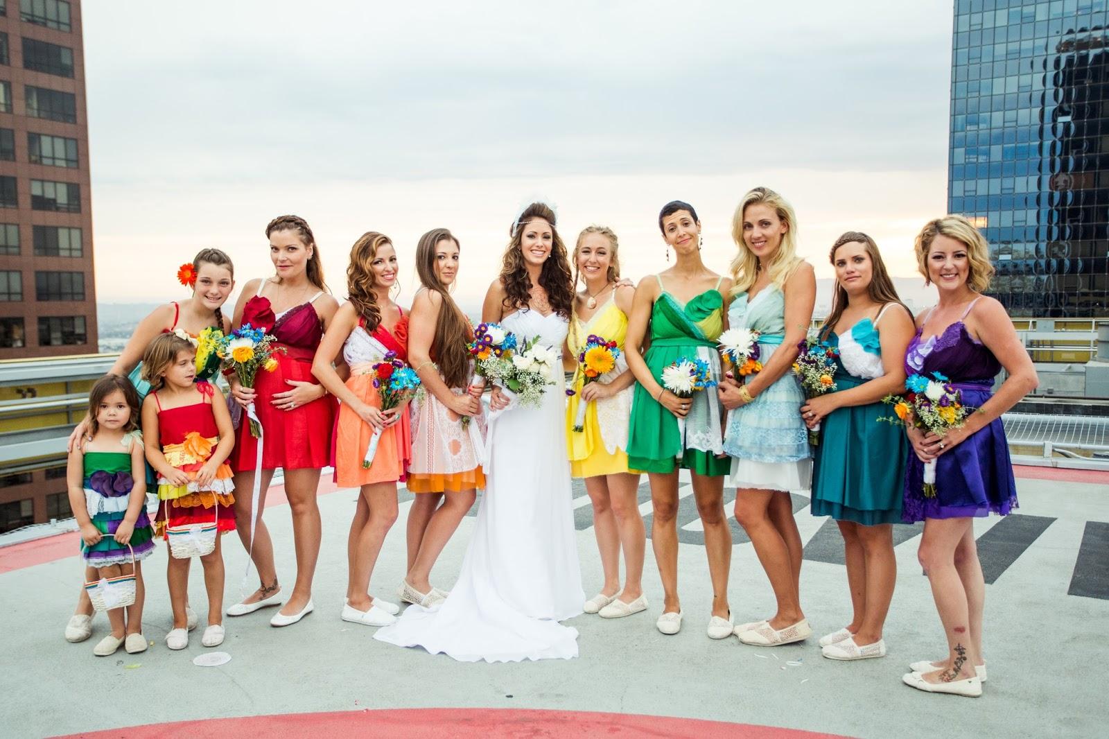 The Maze of my Mind: DIY RAINBOW ECO-FRIENDLY WEDDING