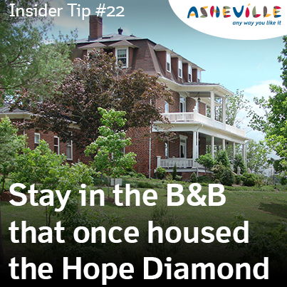Asheville Insider Tip: The Reynold's Mansion B and B is One of the World's Best.