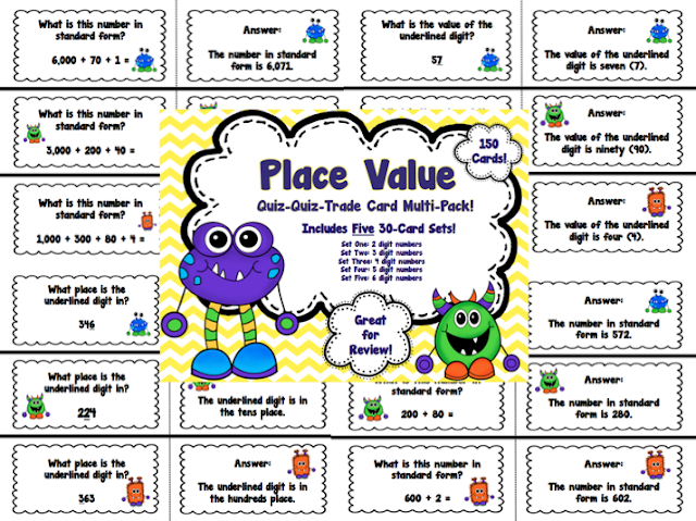 Koonce's Korner: Place Value Quiz-Quiz-Trade... and a Bit of Blog ...