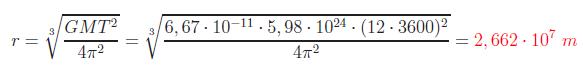 despejar el radio de la tercera ley de Kepler