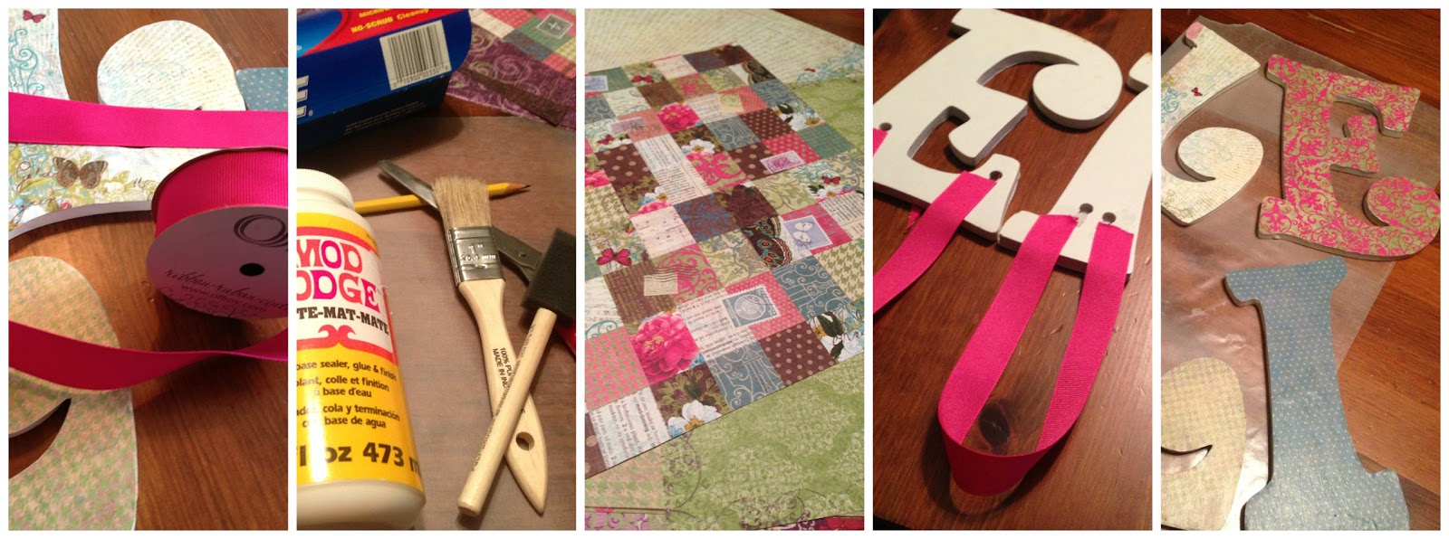 decoupage letters as easy as a b c