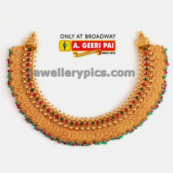 a geeri pai kasulaperu traditional shhort length necklace