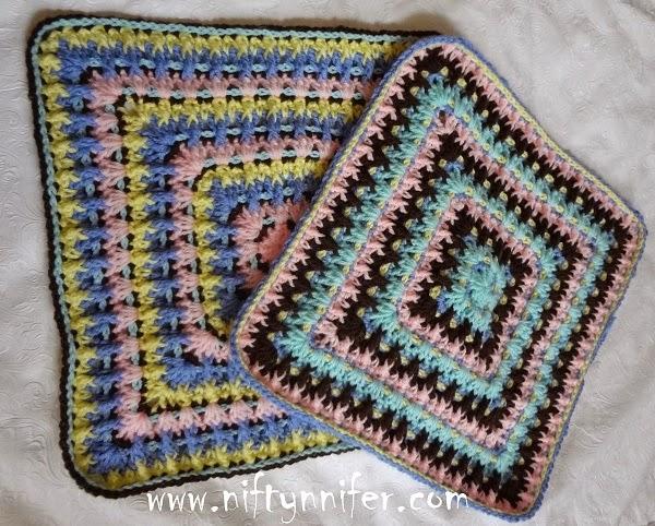 Free Crochet Pattern ~Twist & Shake Square http://www.niftynnifer.com/2015/01/free-crochet-pattern-twist-shake-square.html #Crochet #GrannySquare