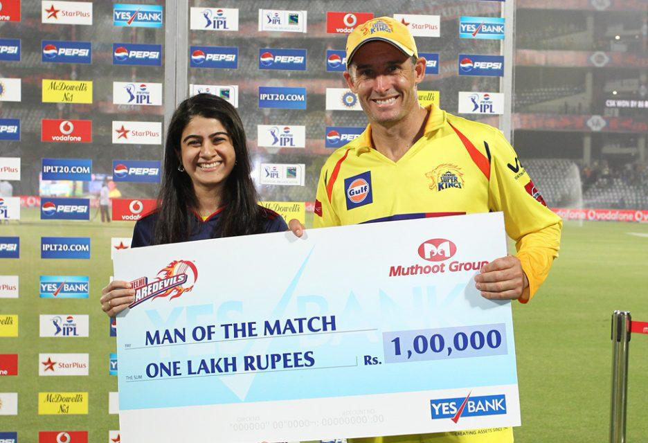 Michael-Hussey-Man-of-the-Match-DD-vs-CSK-IPL-2013