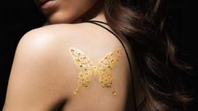 tatuagem temporária de ouro