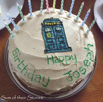 Day of the doctor tribute sum of their stories for Tardis template for cake