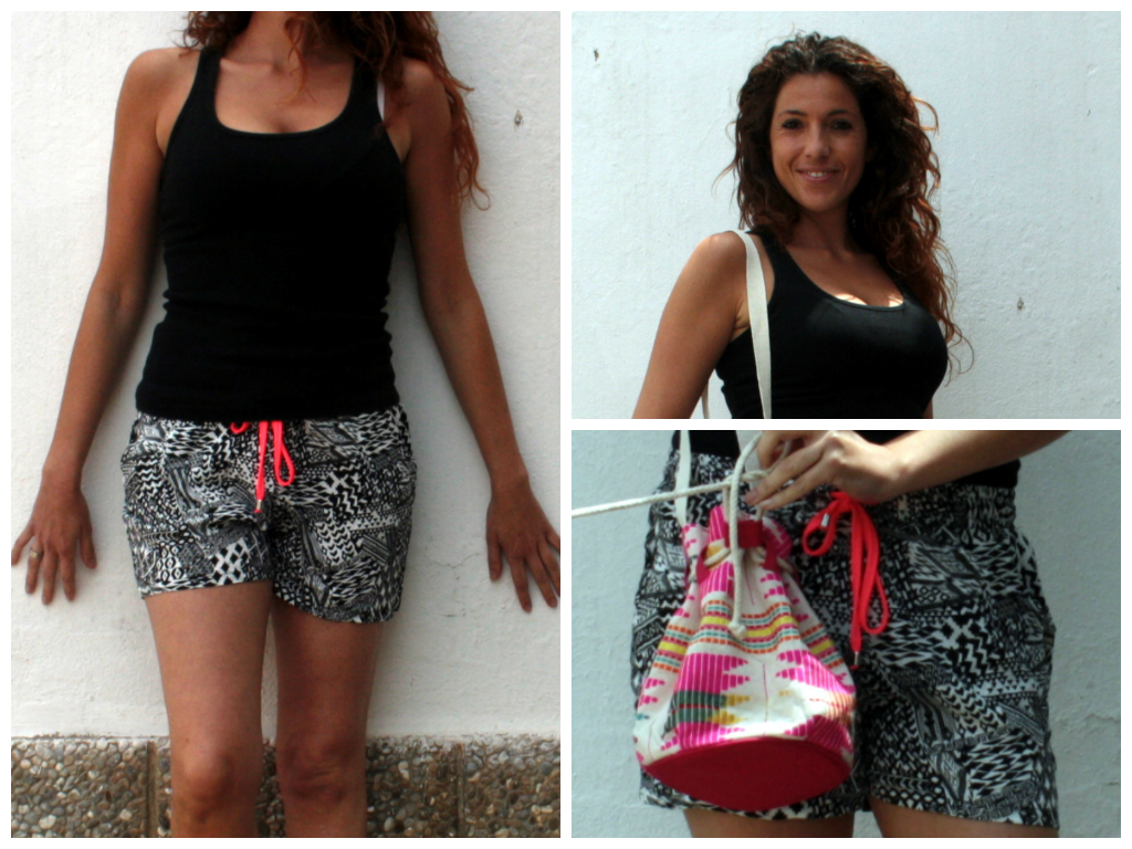 short estampado etnico