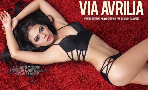 "Download Photo Via Avrilia - BABES Magazine Maret 2015 ""Wanita satu ini menyukai pria yang liar di ranjang"" | www.insight-zone.com"
