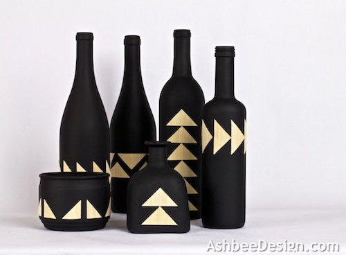A Collection Of Striking Display Bottles. I Love The Graphic Punch Of This  Project. Using Simple Triangles And A Variety Of Patterns, I Created A  Series Of ...