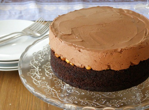 Vegan Chocolate Frangelico Mousse Cake