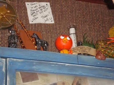 Orange Bird at Trader Sams