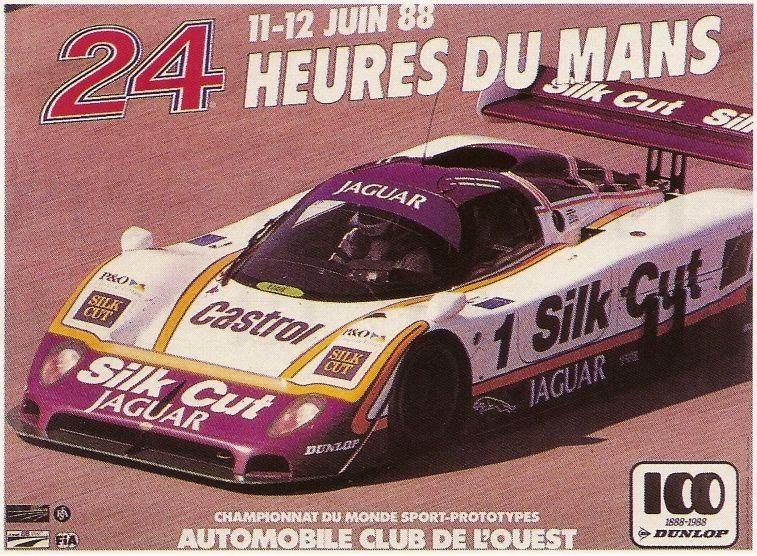 Affiche officielle des 24 Heures du Mans 1988