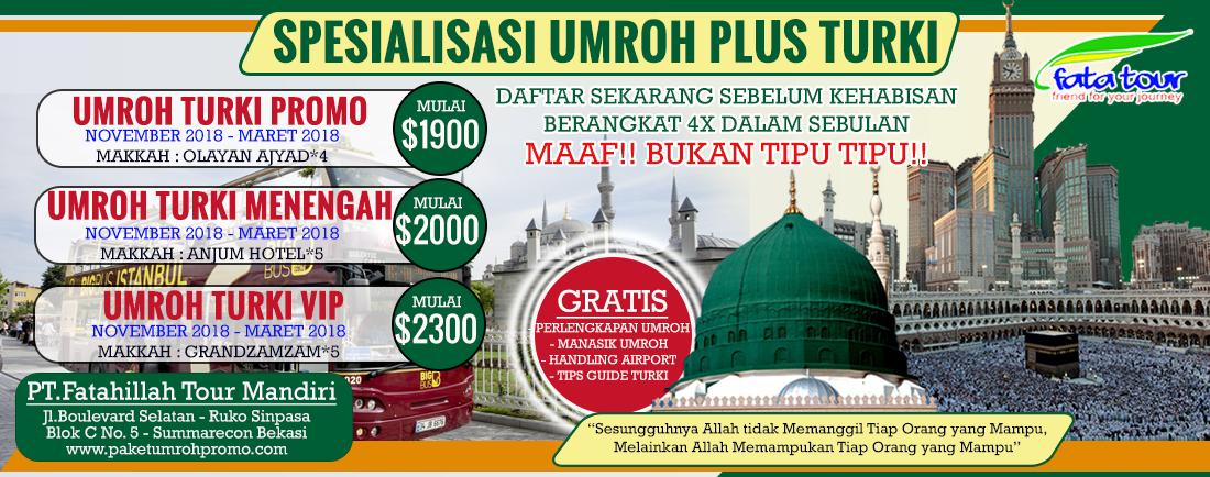 Paket Umroh Plus Turki Promo | Fatatour 081384211114