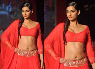 Sonam walks the ramp for Manish Malhotra at Colgate visible white Launch event