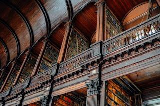 grande biblioteca in foto