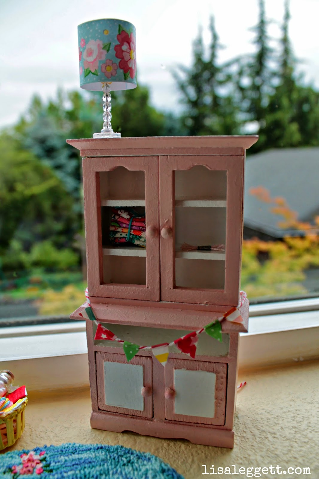 Mini Craft Cabinet with bunting by Lisa Leggett