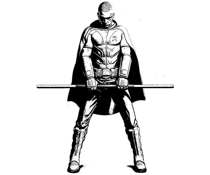batman arkham city robin skill coloring pages