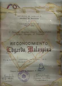 RECONOCIMIENTO DE LA ESCUELA DE CHAPARRO GACHO